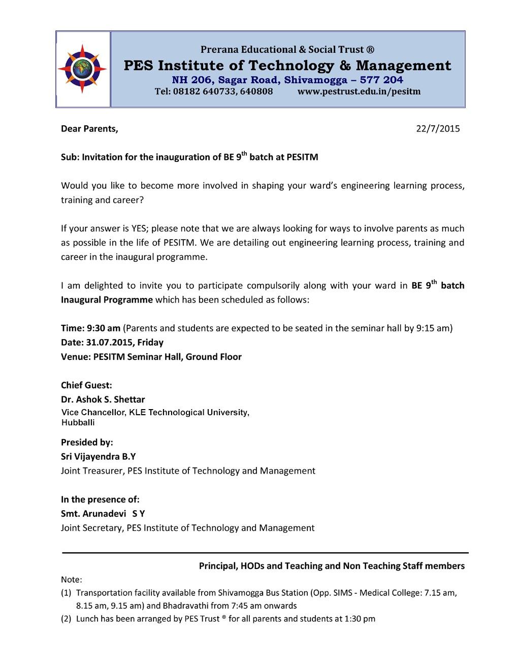 First year Orientation Program