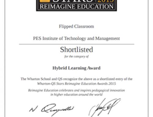 Mr. Arvind Mallik shortlisted for Wharton-QS Stars Reimagine Education Awards
