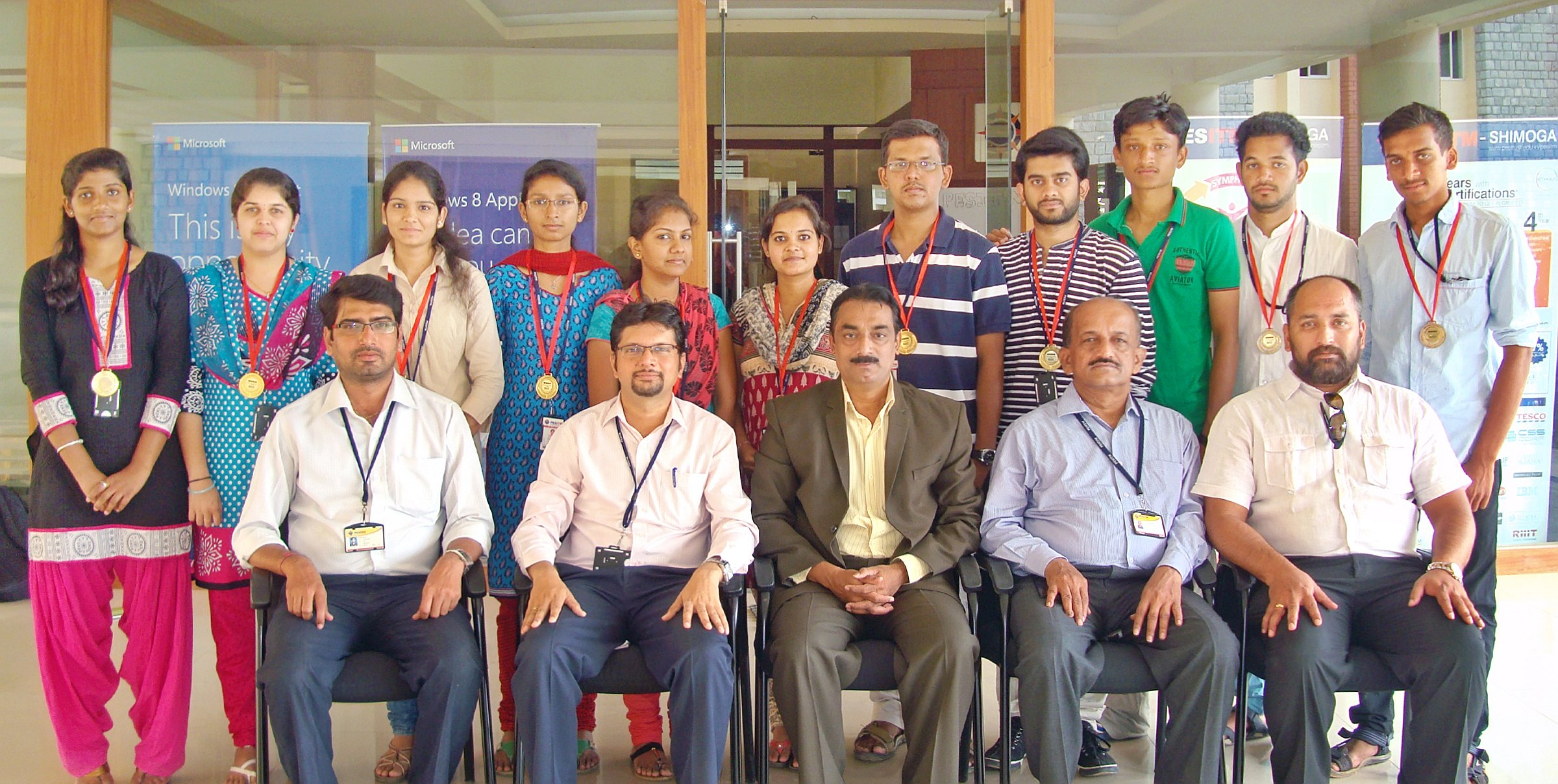 PESITM students bagged 2nd place in National Conference at Mysore