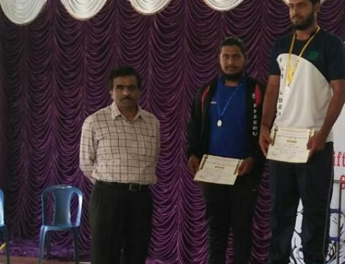 Dheeraj secures medal in VTU Weightlifting & Wrestling competition