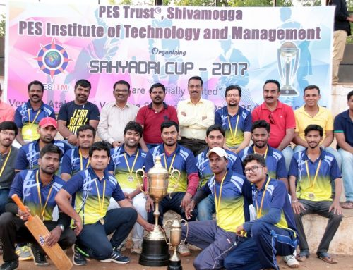 PESITM Staff team winners of Sahyadri Cup