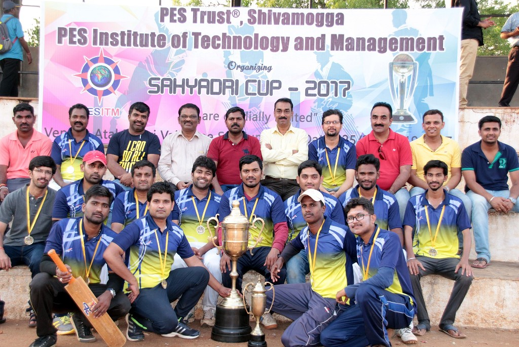 PESITM Staff team winners of Sahyadri Cup