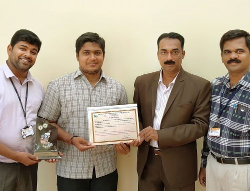 Project of the Year Award from Karnataka State Council for Science and Technology (KSCST)