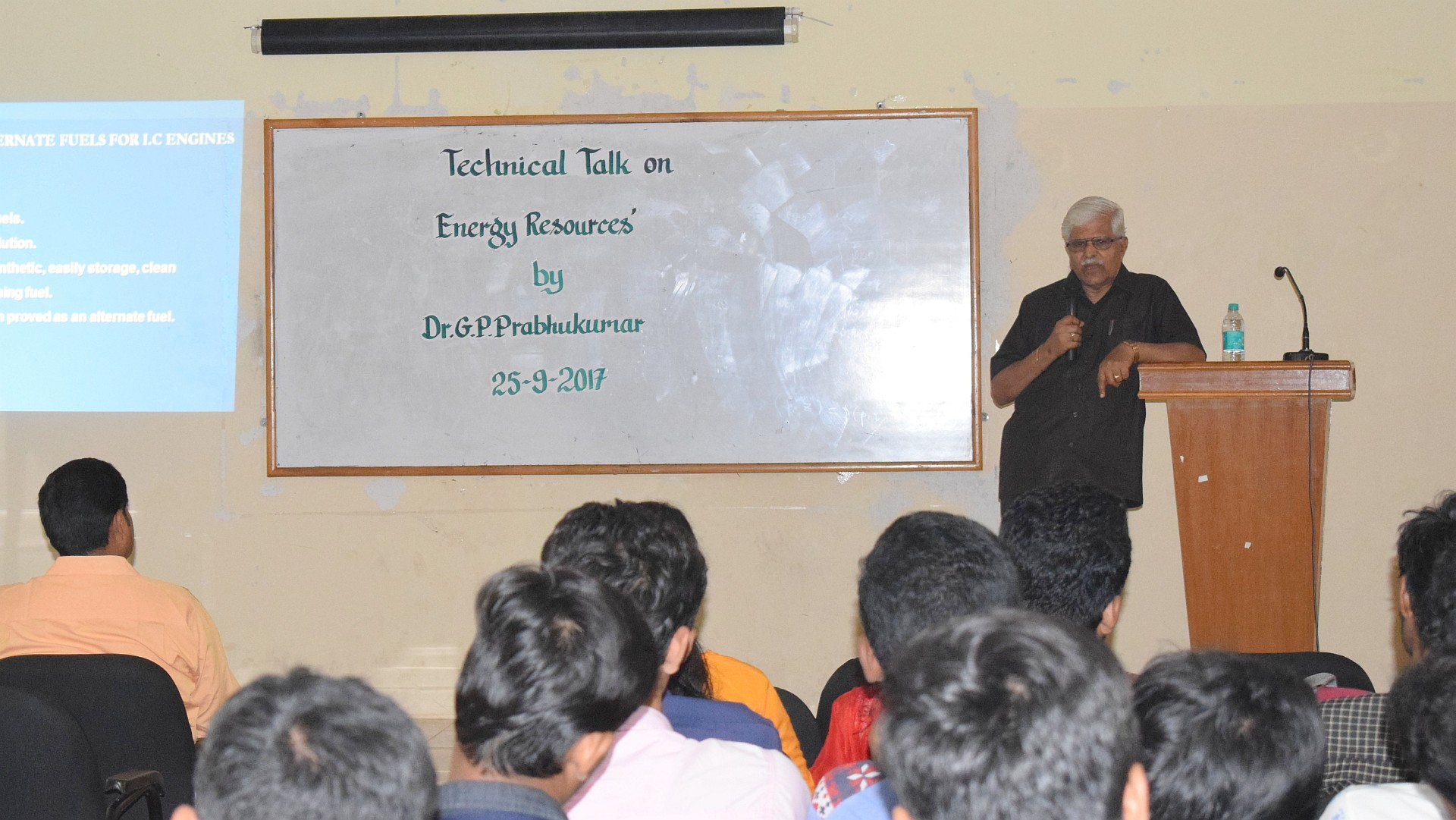 Talk on Energy sources of the future