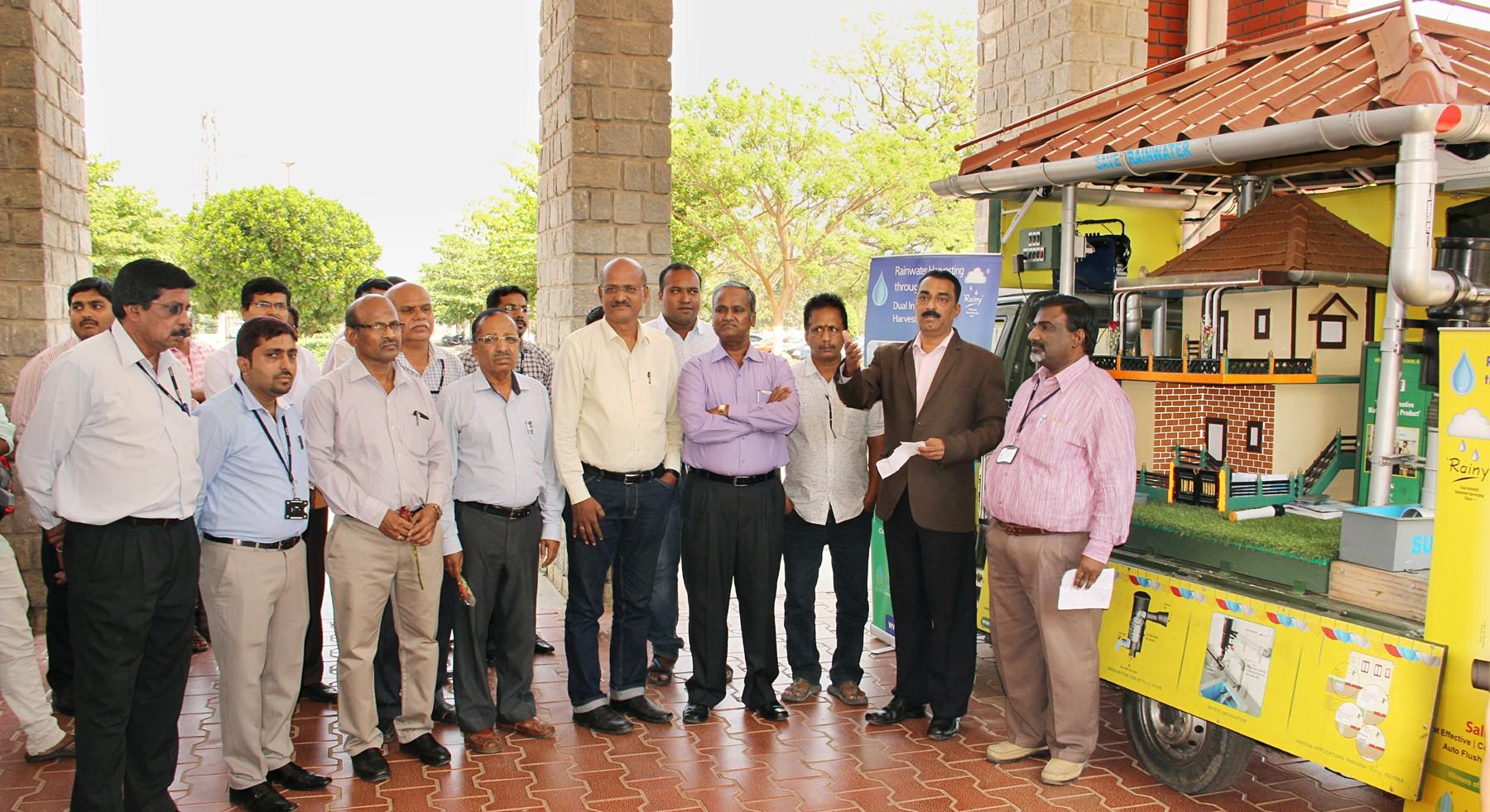 Rain water harvesting demo and awareness program