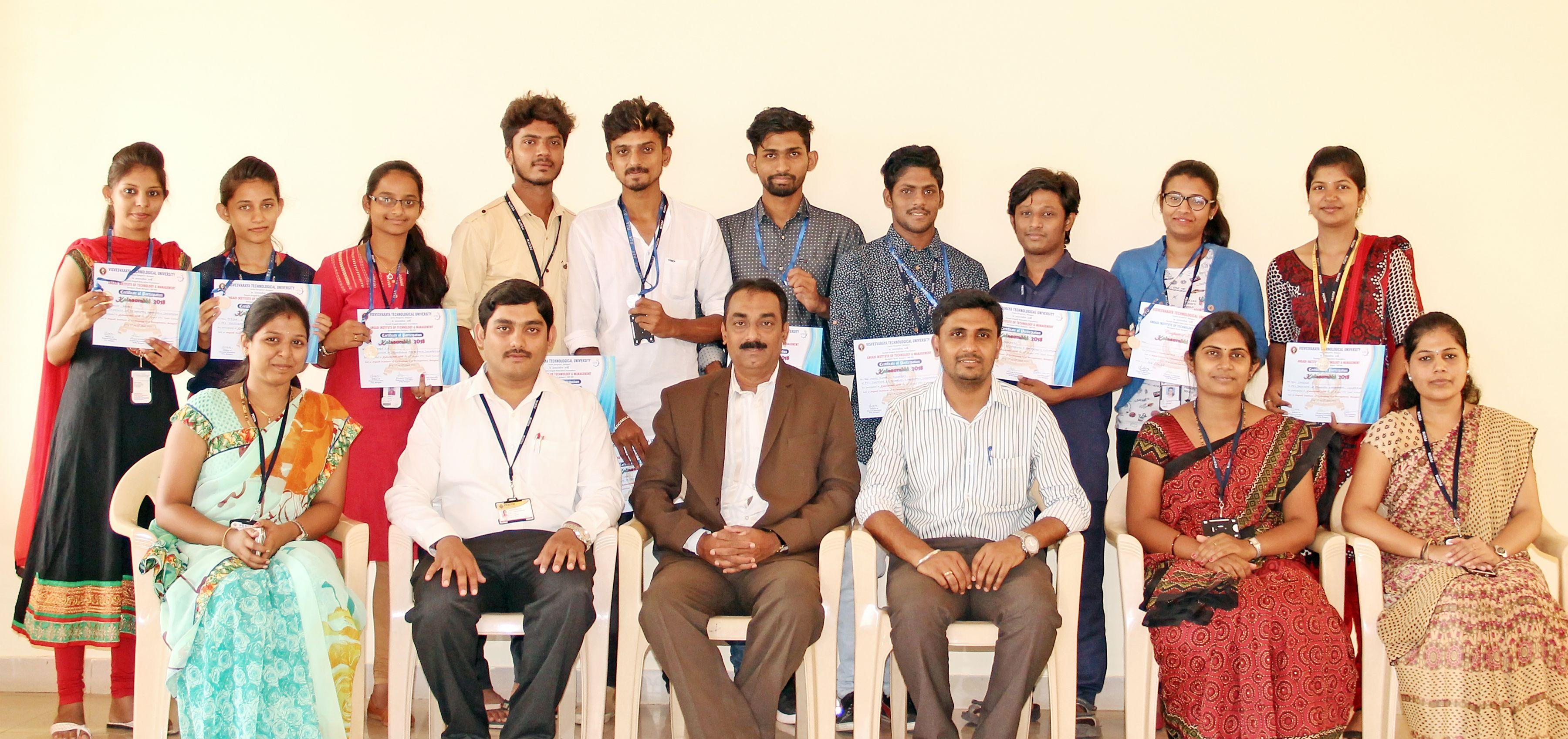 Second Place in VTU State Level Intercollegiate Cultural Events