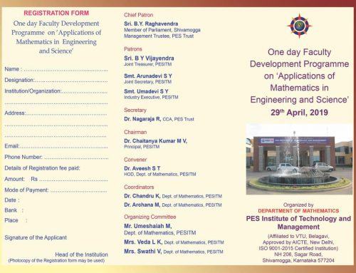 "FDP on ""Applications of Mathematics in Engineering & Science"