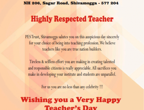 Wishing you a Very Happy Teacher's Day