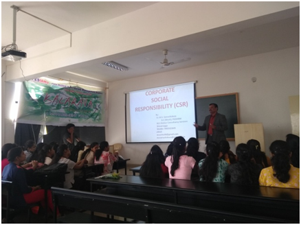 "Guest talk on ""Corporate Social Responsibility"""