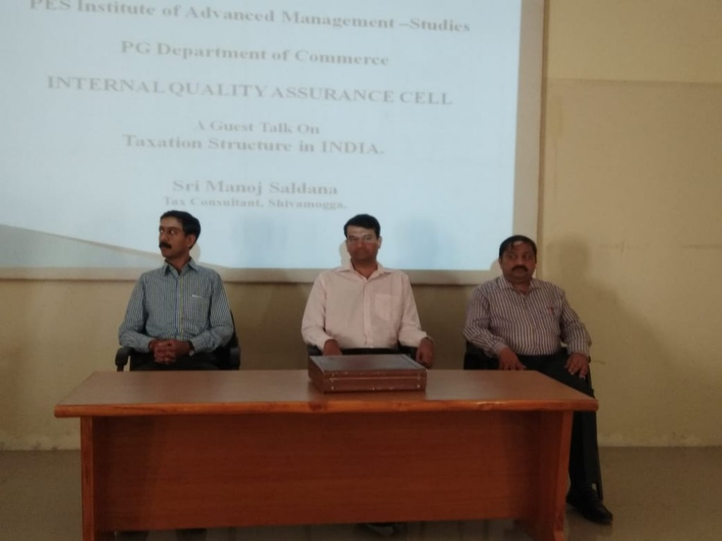 Guest Talk on Taxation Structure in India