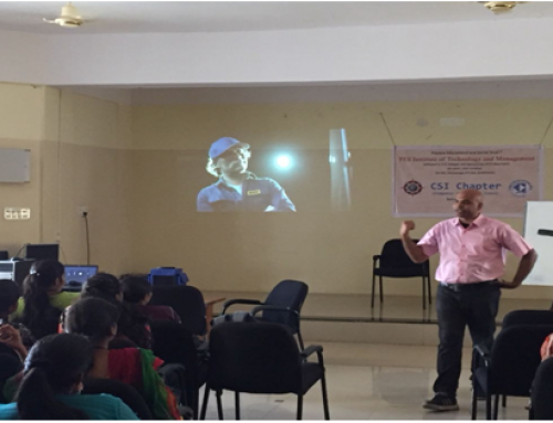 An invited Talk by Mr. Manual K, Software Architect, L&T, Europe