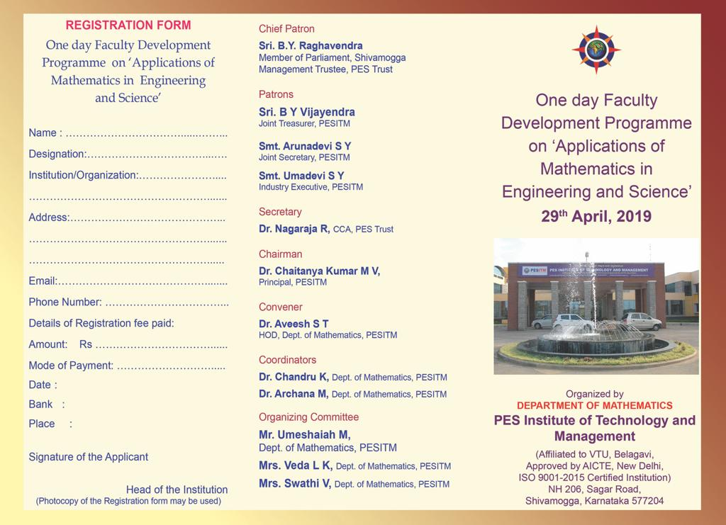 """FDP on """"Applications of Mathematics in Engineering & Science"""