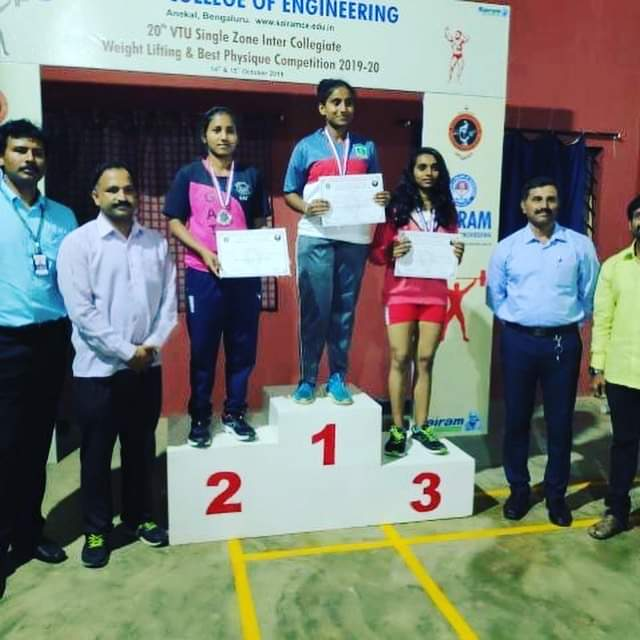 Won third Prize in VTU intercollegiate weight lifting competition