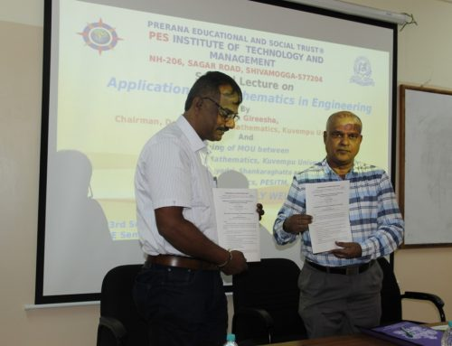 Signing of MOU between Department of Mathematics