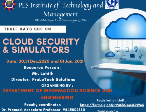 "SDP on ""Cloud Security and Simulators"""