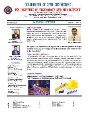 Newsletter Volume 1 Issue 2 February 2018-July 2018