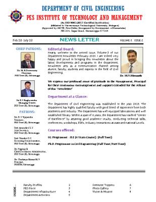 Newsletter Volume 3 Issue 2 February 2020-July 2020
