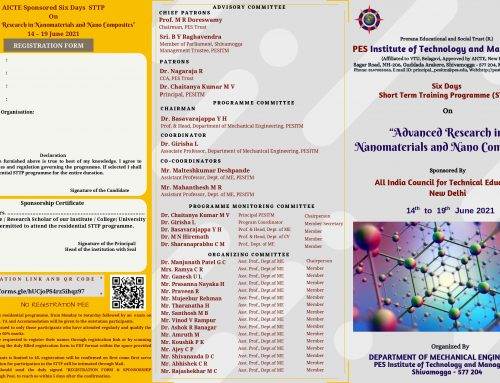 "Six Days STTP on ""Advanced Research in Nanomaterials and Nano Composites""-14th to 19th June 2021"